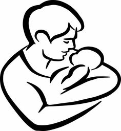 Father and Child Clipart Source by markamoment. Father's Day Drawings, Pencil Art Drawings, Drawing Sketches, Father Tattoos, Baby Tattoos, Tattoo For Son, Tattoos For Kids, Stencil Art, Stencils