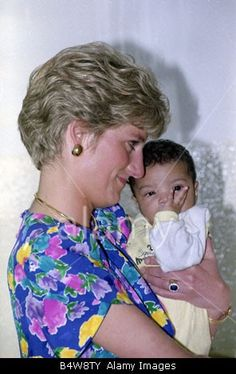 April 24, 1991: Princess Diana during a visit to a hostel for abandoned children In Sao Paulo. Many of them Hiv Positive or suffering from Aids.