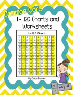 I created these charts to align to the Common Core Math Standards which now require first graders to count to 120 and work with numbers within a 120 chart.  Included in this free download are various 120 charts and a fill in the missing number activity.  Plus, a blank fill in the missing number worksheet for you to create your own worksheets with. -Erica www.ericabohrer.blogspot.com