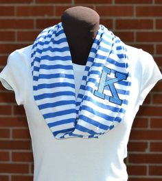 Getting this for kevin's lacrosse games !! love this idea!!! Monogrammed+Infinity+Scarf+Royal+Blue/Kentucky+Blue+by+byrdlegs,+$25.00