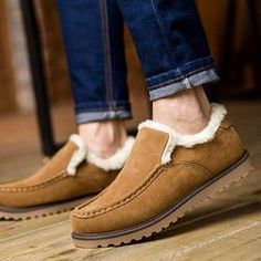 dde87c1f3f8d Warm Faux Fur Slip on Flat Shoes Snow Ankle Boots Fashion Boots