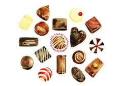 Watercolour Chocolates Greeting Card by HannahLClark on Etsy, £1.50