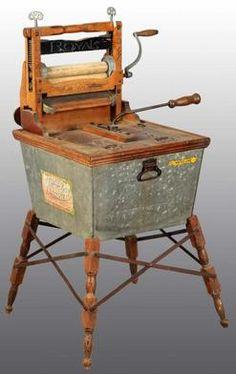 Antique Wringer Washer | Washing Machine; American Wringer, The Wonder Washer, Tub Wringer ...