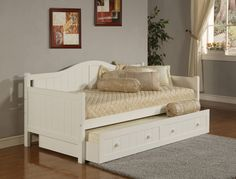 Hillsdale 1525DBT Staci Daybed w/Trundle - White