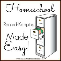 Record keeping made easy! {Quick State Homeschool} http://www.quickstarthomeschool.com/2014/09/record-keeping-made-easy/