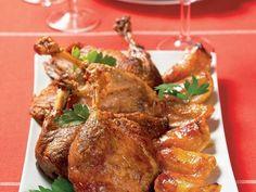 pečená kačka s jablkami Russian Recipes, Pork, Turkey, Lunch, Chicken, Meat, Pork Roulade, Peru, Turkey Country