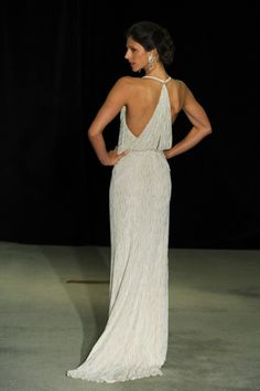Love the back on this Anne Barge halter wedding dress: http://www.stylemepretty.com/2014/10/23/14-halter-dresses-that-will-make-you-swoon/