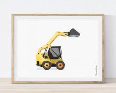 Skid Steer Loader, Bobcat Print, Vehicle Print, Truck Print, Toddler Room Decor, Construction Birthday, Nursery Wall Art by MORILAND on Etsy