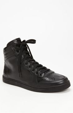 Gucci 'Coda' High Top Sneaker available at #Nordstrom... These bad boys are like black ice