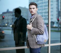 MENS BACKPACK, perfect gift for man, navy  von ThingsYouWear auf DaWanda.com