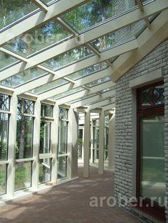 Зимние сады - проектирование и изготовление зимних садов из алюминиевого профиля, услуги по остеклению зимнего сада специалистами компании «АроБер»