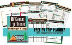 RV Departure Checklists- Stress Free Dewinterizing For Your Camper Rv Trip Planner, Travel Planner, Rv Travel, Family Travel, Travel Tips, Travel Trailers, Travel Hacks, Travel Destinations, Camper Packing List