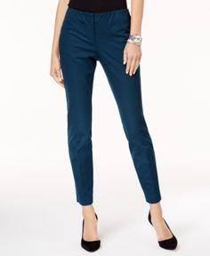 Alfani Bi-Stretch Hollywood Skinny Pants, Created for Macy's - Blue 18