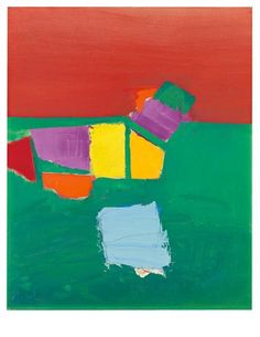Page: Les Martigues (Composition) Artist: Nicolas de Staël Completion Date: 1954 Style: Lyrical Abstraction Genre: abstract painting