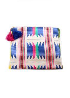 Judith March Aztec Jacquard Makeup Bag (Blue Multi) – DejaVu