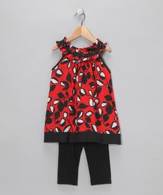 Take a look at this Red Tunic & Leggings - Infant, Toddler & Girls by Danica and Dylan on #zulily today!