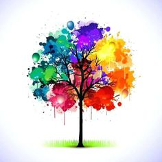 Colorful abstract tree background Sticker ✓ Easy Installation ✓ 365 Days to Return ✓ Browse other patterns from this collection! Abstract Watercolor Art, Abstract Painting Easy, Watercolour, Watercolor Trees, Simple Watercolor Flowers, Abstract Trees, Watercolor Paintings For Beginners, Simple Paintings For Beginners, Water Color For Beginners