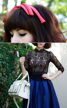 Finders Keepers Lace Top, Asos Umbrella Skirt
