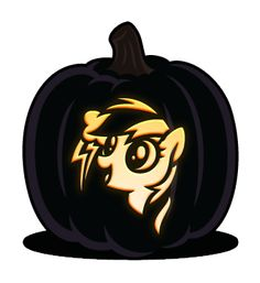 Rainbow Dash Pumpkin Carving Patterns Template Templates Free