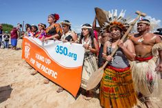 The Pacific Climate Warriors Support the ShellNo! Activists