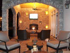 Outdoor Living Fireplace #outdoor_living_fireplace