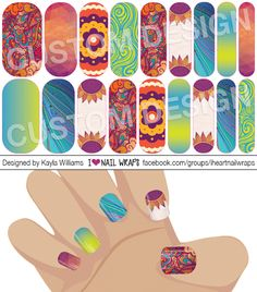 Gypsy Festival Jamberry NAS Nail Wrap Design. Why bother with nail art designs and polish when Jamberry nail wraps are so much easier? Get the pretty nails you've always wanted for a fraction of the cost of a salon visit. #iheartnailwraps #nailart #naildesigns #jamberry #jamberrynas #jamicure #nails #festivalnails #gypsynails