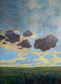 Steve Coffey - Last Low Clouds and Passing Storm 30 x oil/canvas Sarah James, Alex Colville, June 4th, Canadian Art, Illustration Art, Scene, Clouds, Oil, Canvas