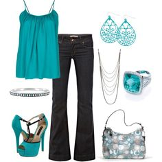 """""""Turquoise"""" by srose38 on Polyvore"""