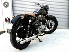 Royal Enfield Bullet.  (My wheels when I lived in India).