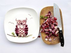 owl created with onions
