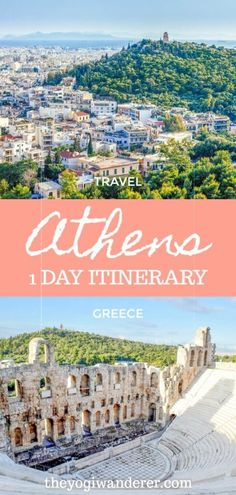 This 1 day travel itinerary covers all the best things to do in Athens, Greece, including the Acropolis and the Parthenon, Plaka district, Syntagma square, Monastiraki Market, and much more. #Athens #Greece #Europe European Travel Tips, Europe Travel Guide, Travel Guides, Travel Destinations, Travel Info, Greece Itinerary, Greece Travel, Acropolis, Parthenon