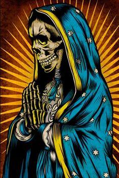 Santa Muerte, Mexican folk-religion kind of thing.
