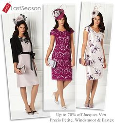 Just Last Season wedding outfits and occasionwear from Jacques Vert, Precis Petite, Windsmoor and Eastex