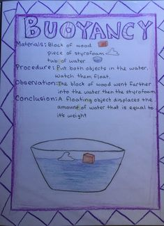 Here's one of my students' 8th grade physics main lesson pages about buoyancy.
