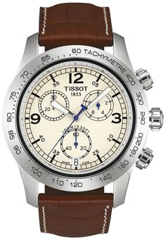 The Tissot V8 watch is ideal for adrenalin-loving types. The stunning dashboard-style dials and stylish combination of nostalgia and high-tech materials make it a powerful look for the wrist. This wat
