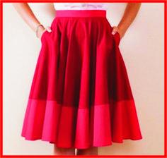 modelo de saia gode com bolso