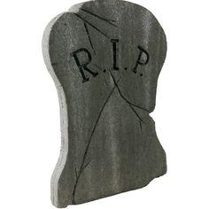 Hourglass RIP Halloween Tombstone