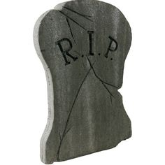 Hourglass RIP Halloween Tombstone
