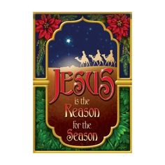 """""""Jesus is the Reason for the Season"""" is the good news, uplifting message written across the front of this Christmas nativity scene themed garden flag. Christmas Garden Flag, Christmas Tree Bows, Christmas Nativity Scene, Xmas Ornaments, Xmas Tree, Christmas Holidays, Christmas Ideas, Christmas Things, Merry Christmas"""