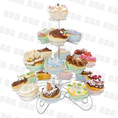 Cupcake Stand (hold 23 cupcakes) >>> Special offer just for you. Cupcake Party, Birthday Cupcakes, Cupcake Tier, Baby Cupcake, Porta Cupcake, Owl Themed Parties, Buffet, Cake Holder, Birthday