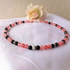 Collier Cherry-Quarz Onyx Silber 925 Cherry, Beaded Bracelets, Jewelry, Outfit, Necklaces, Beautiful Earrings, Brooches, Gemstone Beads, Red Color