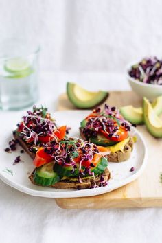 Open-faced Sprout Sandwich   Nutrition Stripped
