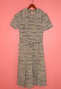 Vintage Dress 60s Mod Collar Kick Pleats by PinkCheetahVintage, $72.00