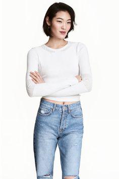 Textured-knit jumper | H&M