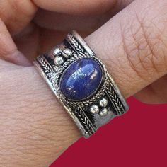 Thumb rings, silver cuff, stackable. Nepal jewelry, ethnic, tribal. Tibetan silver, lapis lazuli. Boho, statement. Check out this pin for more details on the following link: https://www.etsy.com/listing/454364226/thumb-rings-for-women-silver-cuff-nepal?ref=shop_home_active_1