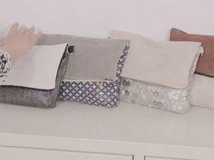 Tutoriel DIY: Comment faire un sac réversible - DIY Selber Machen Diy Clutch, Diy Purse, Diy Couture, Couture Sewing, Sewing Tutorials, Sewing Crafts, Sewing Projects, Pochette Diy, Diy Bags Purses