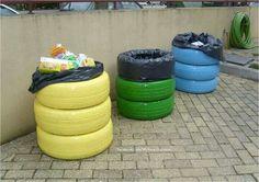 Tyre dustbins