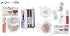 Peripera x Disney Frozen makeup collection!!!!!!! WANT!!!!! Anna and Elsa eye palettes = WANT!!!