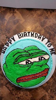 Pepe the frog meme cake