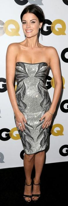 Who made Jaime Alexander's silver sequin dress that she wore in Los Angeles on November 12, 2013?